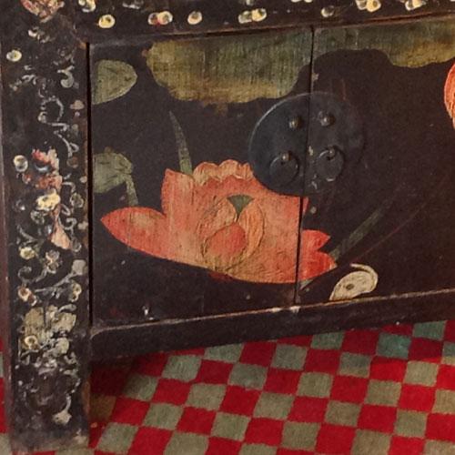 Antikt Skåp Red China Art Lomma